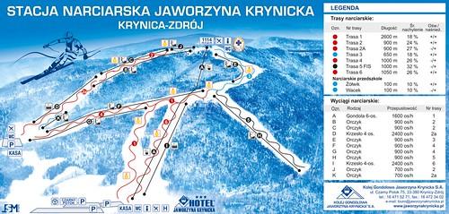 Jaworzyna Krynicka - mapa sjezdovek