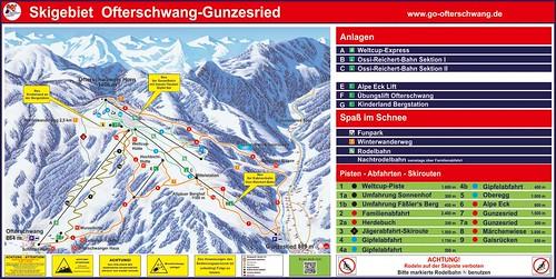 Ofterschwang - mapa sjezdovek