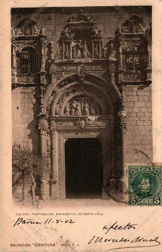 Hospital de Santa Cruz  hacia 1900. Fotografía de Antonio Cánovas del Castillo, Dalton Kaulak.