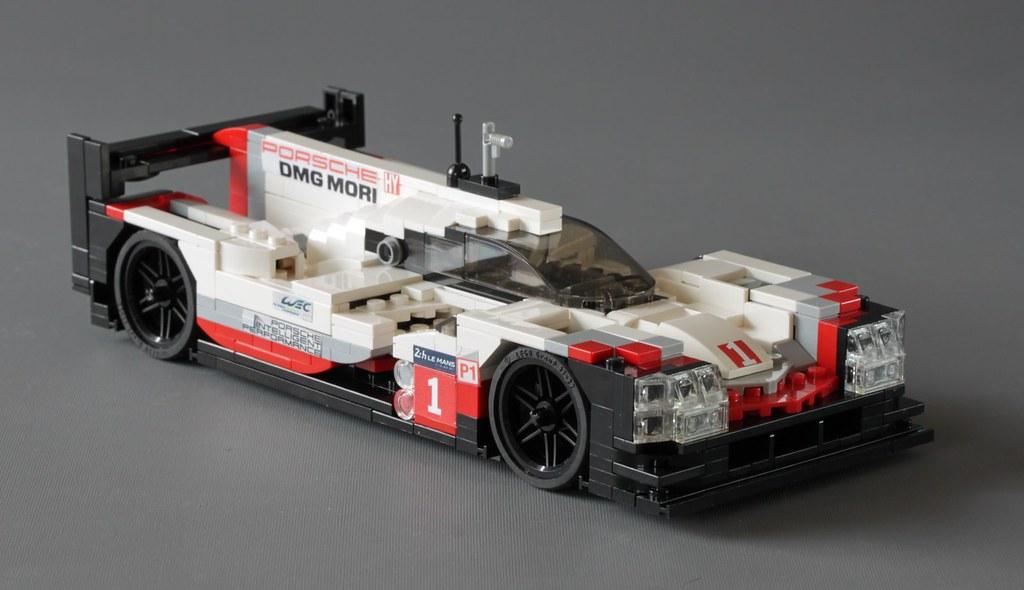 moc porsche 919 hybrid le mans race car in scale 1 20. Black Bedroom Furniture Sets. Home Design Ideas