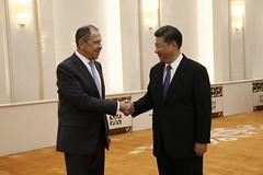 С.В.Лавров и Си Цзиньпин   Sergey Lavrov & Xi Jinping