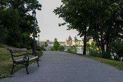 Hungarian parliament from Buda Castle Park