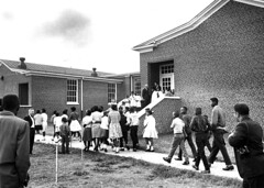 Black students return to schools in Farmville: 1963