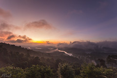 Vietnam Sunrise over the lake