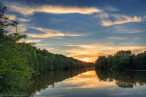a2 annarbor furstenburgpark galluppark huronriver july mi michigan landscape nature river summer sunset water unitedstates us