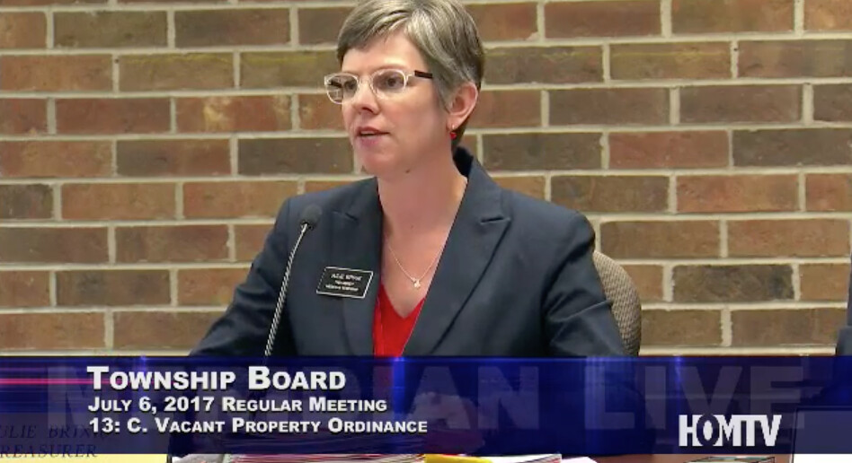 Township Board Discusses Vacant Property Ordinance