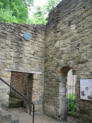Photo of Mabel's Mill and William Armstrong black plaque