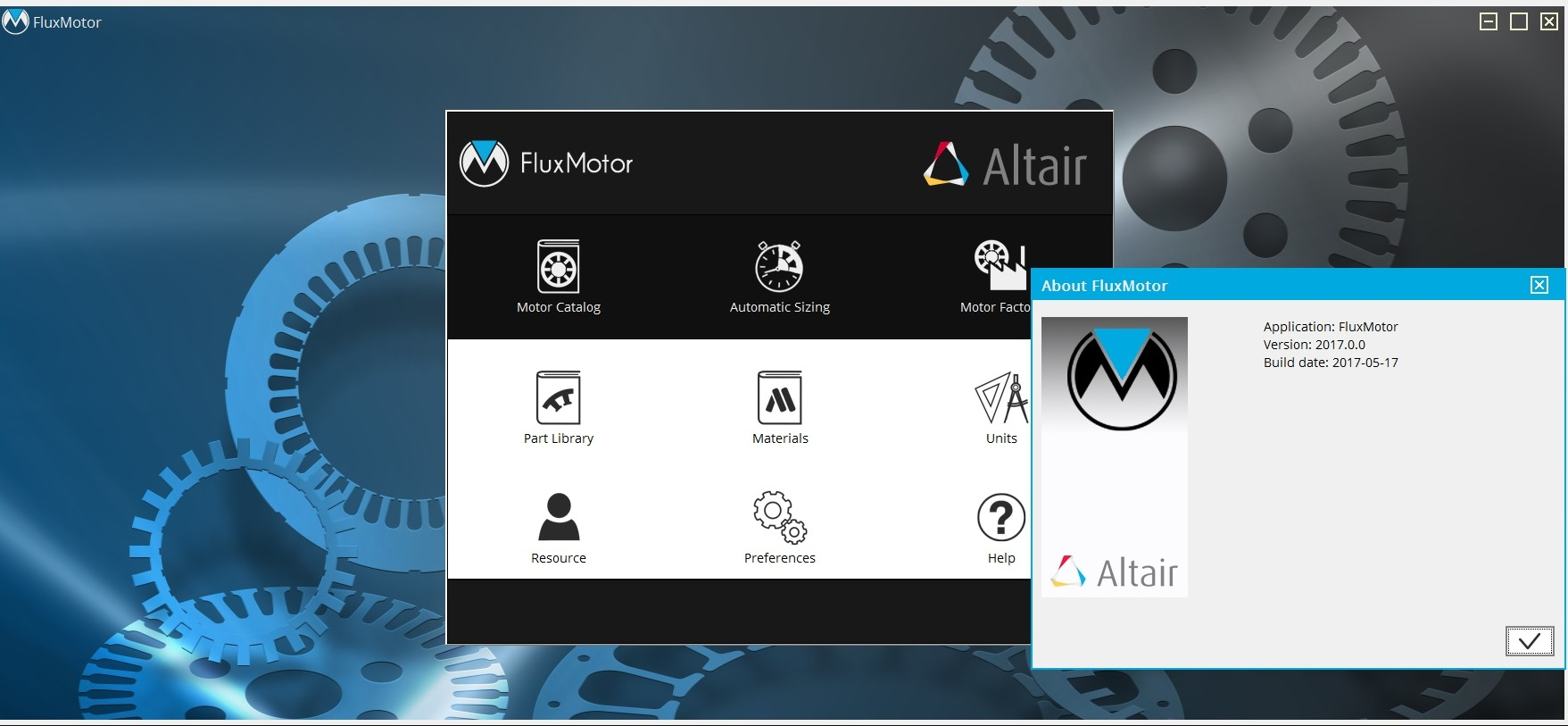Working with Altair FluxMotor 2017.0 Win64 full