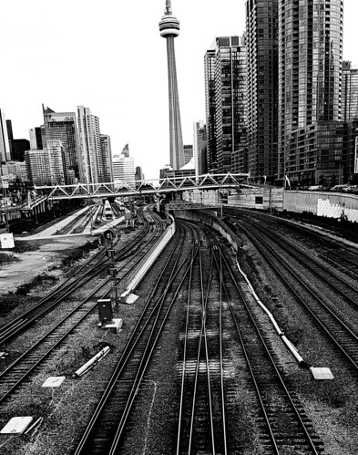 A View from Bathurst Street Bridge - Toronto