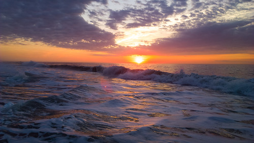 sunrise oceancity atlanticocean morning sun partlycloudy waves