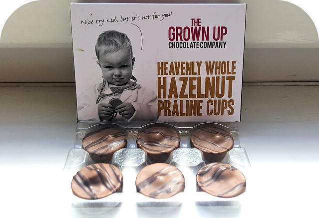The Grown Up Chocolate Company Heavenly Whole Hazelnut Praline Cups