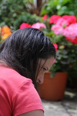 Canon EOS 60D - My beautiful wife Lisa in the garden