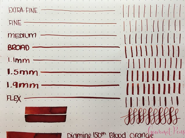 Ink Shot Review Diamine Anniversary Blood Orange @AppelboomLaren 3