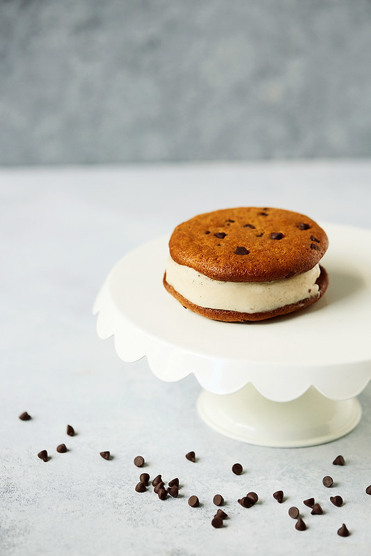 Grain-free Chocolate Chip Cookie Banana Ice Cream Sandwiches
