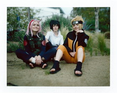 Holly, Jaden, and Carmen as Team 7 at Titan Con