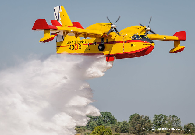 Spanish Canadair CL-215T in action
