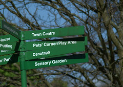 Sign in Astley Park, Chorley