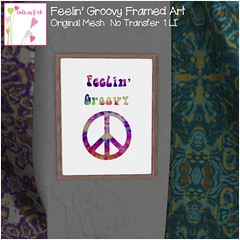 Feelin' Groovy Framed Art only 1L from ::cute as f*ck::