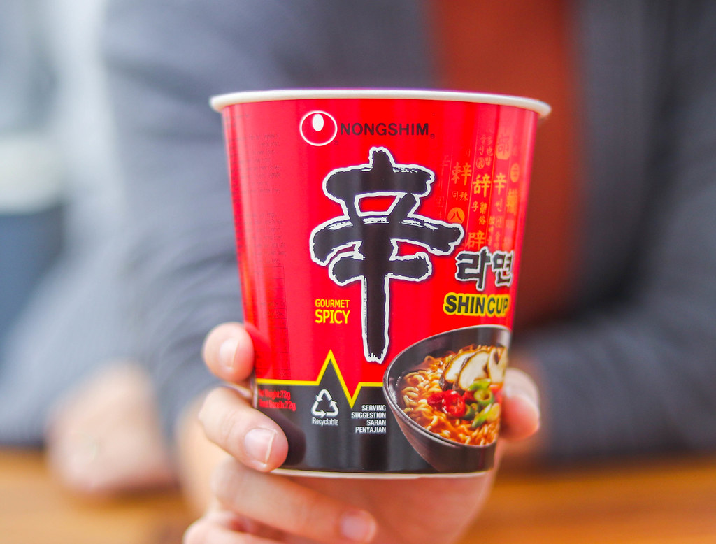Korean Spicy Noodles Challenge: NONGSHIM SHIN CUP