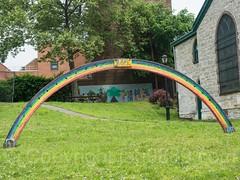 Hope Rainbow Sculpture, St. Ann's Church, Mott Haven, Bronx, New York City