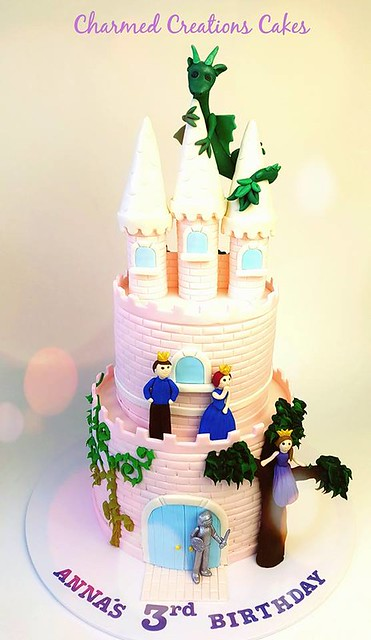 Pink Castle Cake by Charmed Creations Cakes