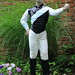 Painted my lawn jockey today with the colors of the winner of the Belmont Stakes by NYhorseracing