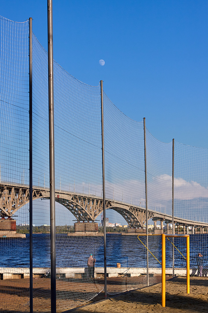 Fishermen nets bridge moon