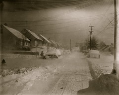 Blizzard, Robin Road, Silver Spring, Maryland, 19 March 1958