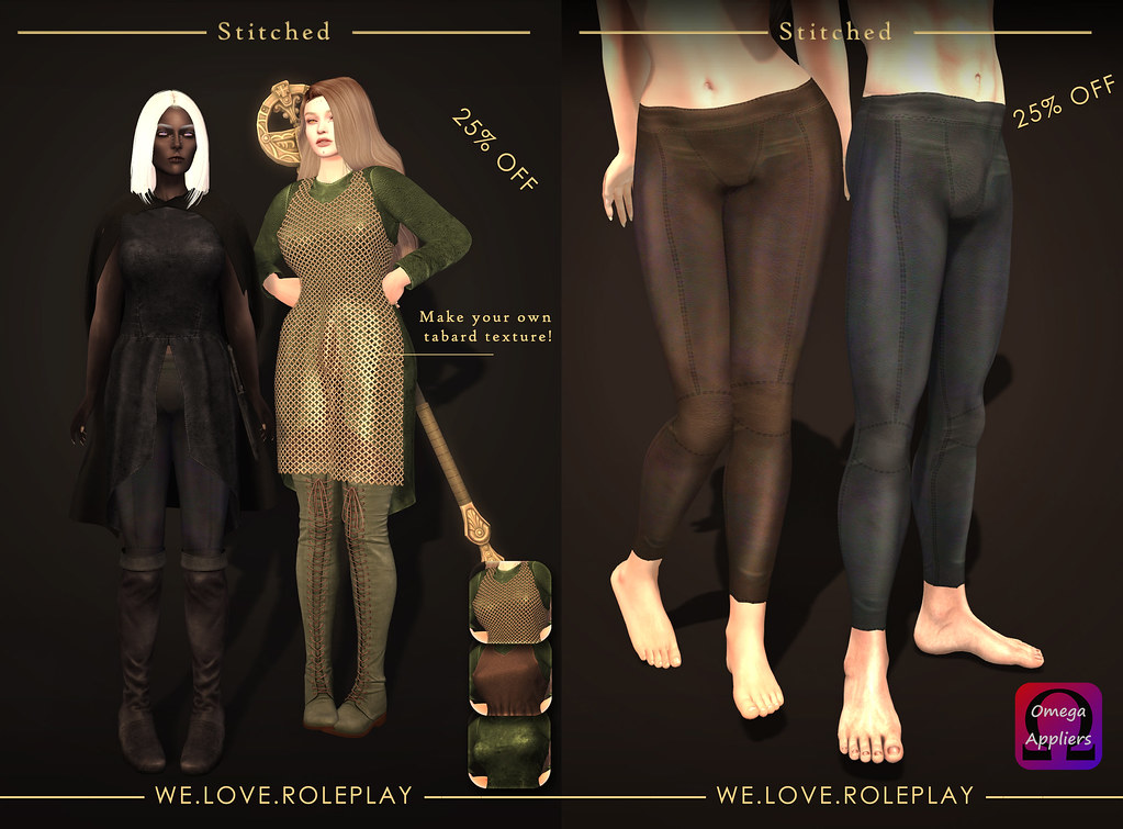 Brienne Tunic & Leather leggings applier - SecondLifeHub.com