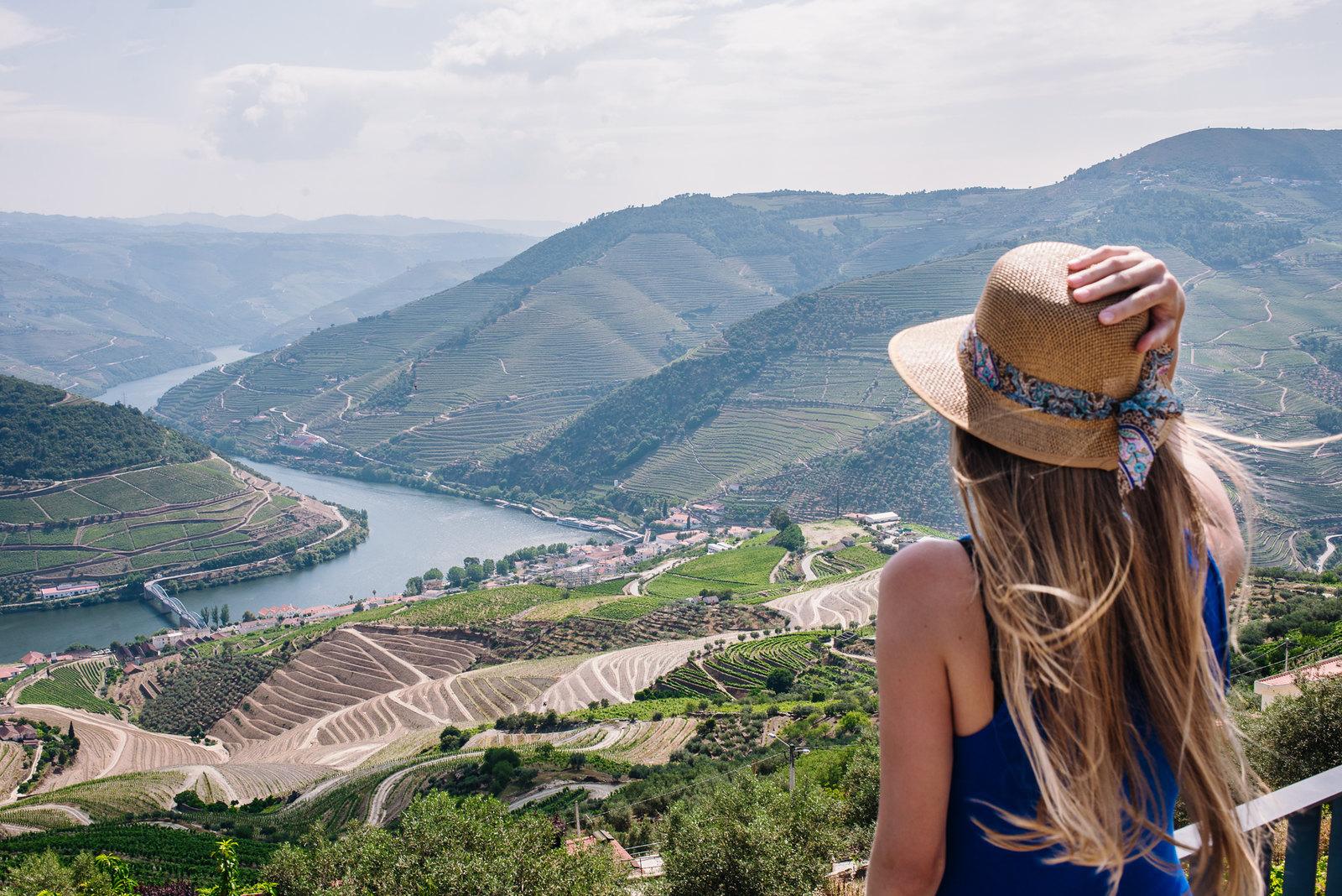 Douro-völgy Portugáliában Pinhao kilátójából
