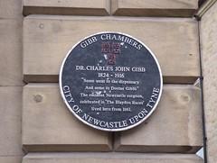 Photo of Charles John Gibb black plaque