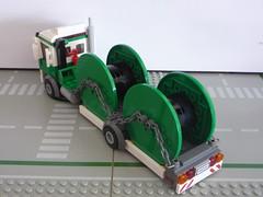 Le camion porte-touret lego