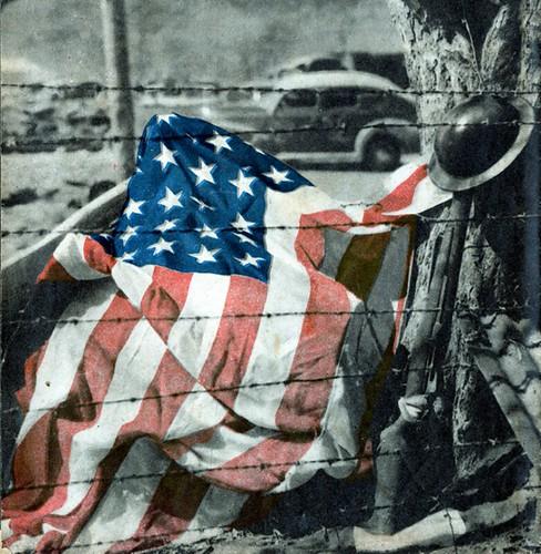 Fallen American Flag