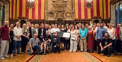 dj., 13/07/2017 - 19:21 - L'alcaldessa presideix l'acte de lliurament de la Medalla d'Or al Mèrit Cultural a la Fundació Festa Major de Gràcia