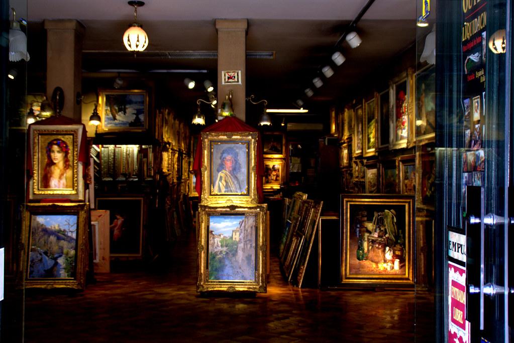 Una tienda de cuadros