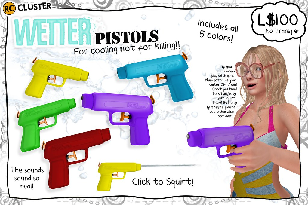 -RC- Wetter Pistols for SUMMERFEST! - SecondLifeHub.com
