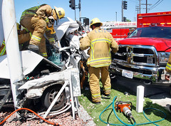 Vehicle Collides with LAFD Ambulance in Pacoima