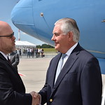 Secretary of State Rex Tillerson accompanies President Donald J. Trump on travel to Hamburg, Germany, July 5-9, 2017. Secretary Tillerson then makes his first official visit to Kyiv, Ukraine on July 9, 2017, where he meets President Poroshenko and with young reformers from government and civil society. The Secretary then travels to Istanbul, Turkey, July 9–10, 2017, where he meets with senior Turkish officials to discuss a range of bilateral and regional issues.