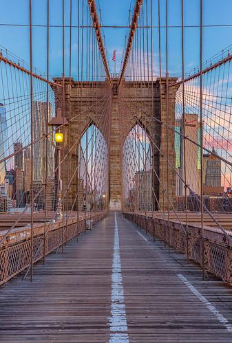 Brooklyn Bridge purple hour