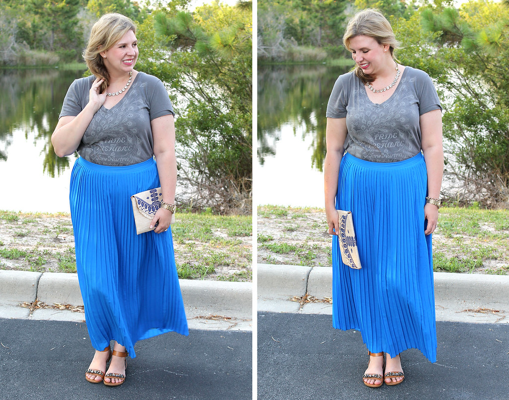mom style remix graphic tee two_blue maxi skirt
