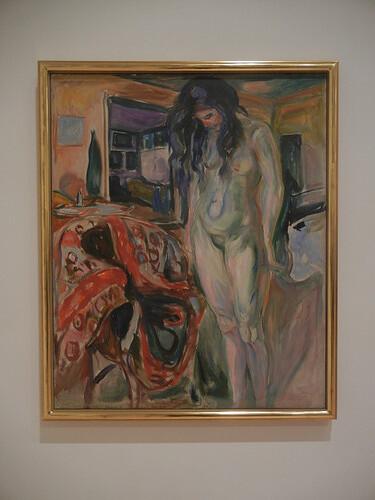 DSCN9115 _ Model by the Wicker Chair, 1919-21, Edvard Munch, SFMOMA