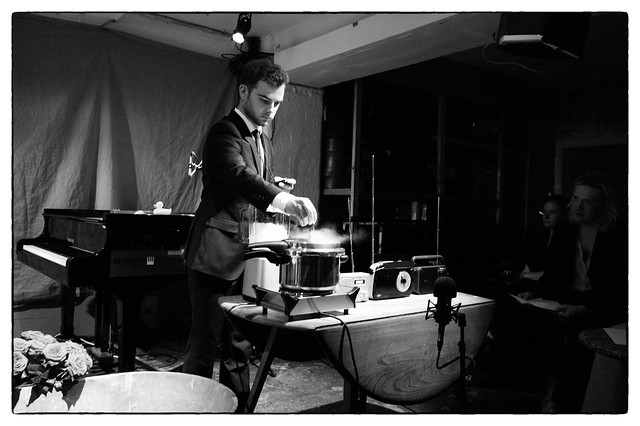 John Cage's Water Walk performed by Arthur Bruce @ Cafe Oto, London, 10th July 2017