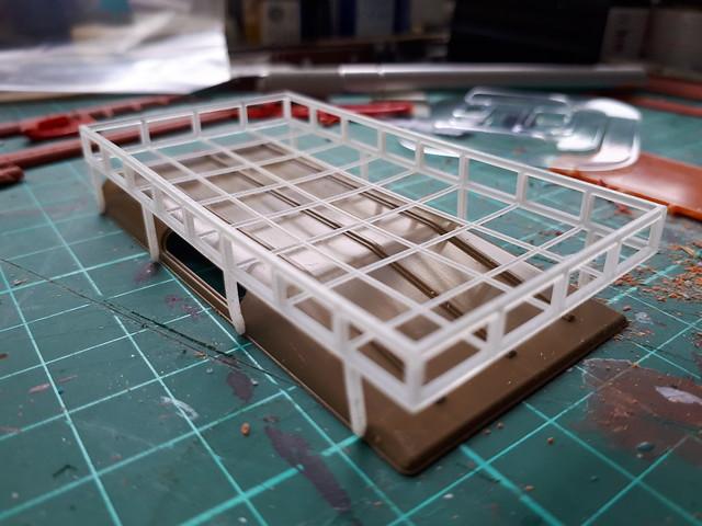 3D printed stuff- 1:35th roof rack for Italeri Land Rover kit