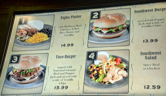 Pecos Bill menu