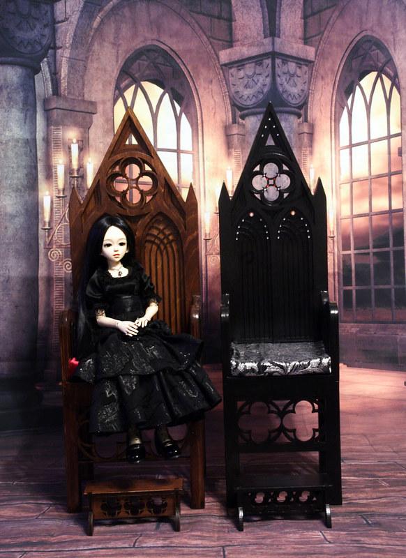 Gothic throne model 01 WATE & Gothic throne model 01 Black