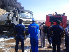 Kalemie, Tanganyika province. June 12, 2017- Fire broke out at about 7h30? in a fuel storehouse of Ets Richa Espoir in the district of Kalumbi, Lumumba avenue, in the town-center of Kalemie.