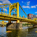 Roberto Clemente Bridge and Allegheny River - Pittsburgh PA