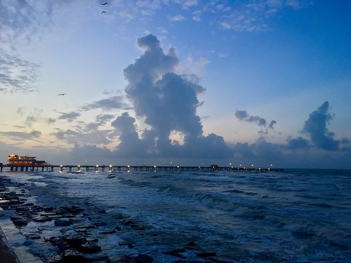 galveston texas sunrise tropicalstorm rain bluehour gulfofmexico clouds iphone surf
