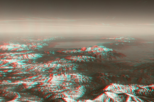 laketahoe sierranevada lake mountains aerial landscape california nevada blackandwhite ana 3d redcyan redblue
