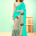Cyan Bamber Georgette Half & Half Embroidered Saree published on Wilori click http://wilori.com/product/cyan-bamber-georgette-half-half-embroidered-saree/  to open
